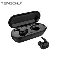 TSINGO Touch Control Mini Stereo TWS Earphone WaterProof Bluetooth Twins True Wireless Earbuds With Charging Box