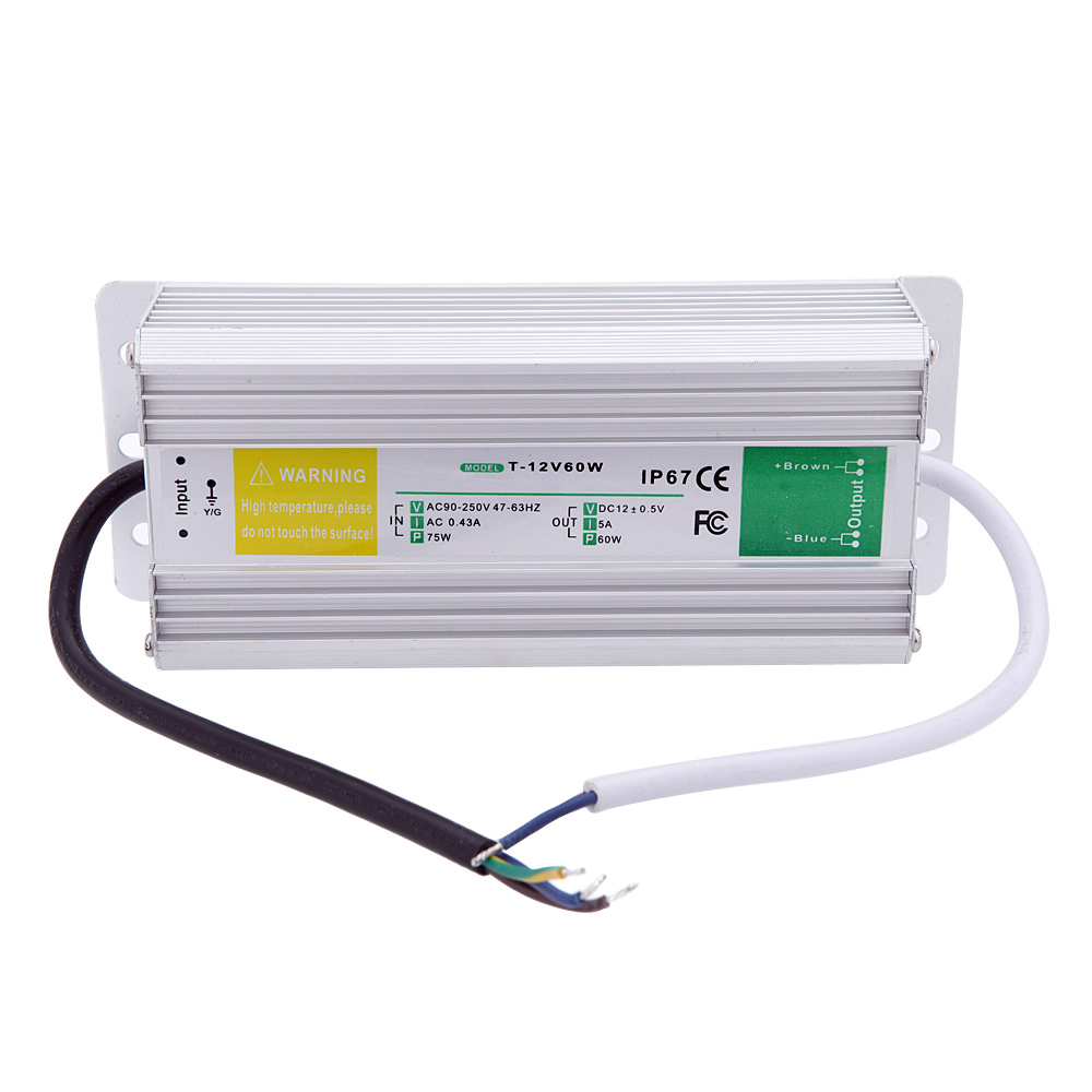 Ac to Dc 12V 5A 60W Switching Power Supply ip67 Outdoor Used Led Strip Driver s 60 12 nes 12v 5 amp led strip driver adapter ac dc transformer psu voltage regulator 12 v 60w switch 12v power supply 5a