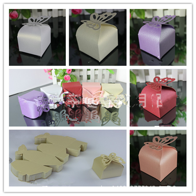 Gift Box Decoration Ideas Magnificent 10Pcs Folding Diy Butterfly Wedding Candy Box Wedding Favors And Design Decoration