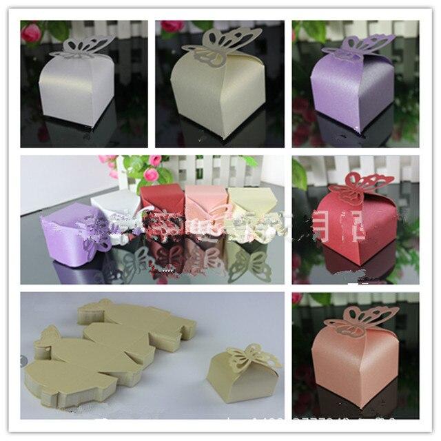 Online Shop 40Pcs Folding DIY Butterfly Wedding Candy Box Wedding Enchanting Gift Box Decoration Ideas