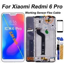 """Màn Hình LCD 5.84 """"Hiển Thị Cho Xiao Mi Đỏ MI 6 Pro Bộ Số Hóa Cảm Ứng Khung Kính Cho Tiểu mi Mi A2 Lite Màn Hình LCD"""