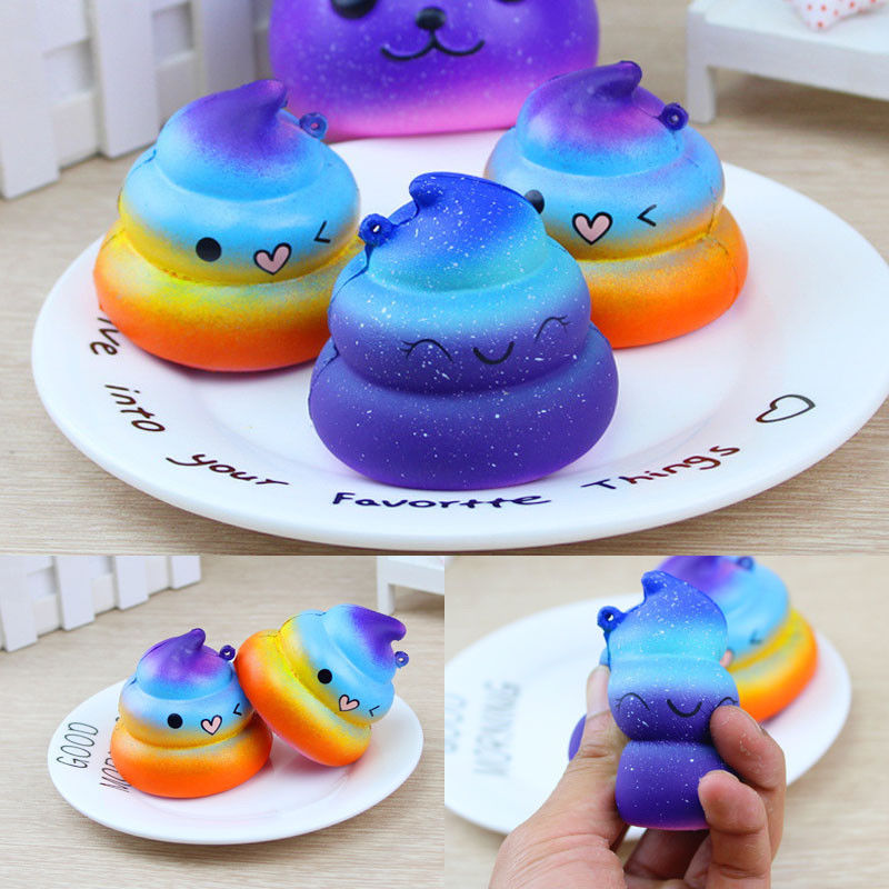 PU Squishy Poo Slow Rising Bread Toy Cute Kid Squeeze Toy Pressure Relief Soft Gift Fun
