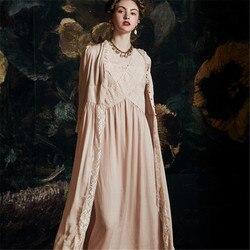 Palace Nachtwäsche Weiblichen Sommer Nachthemd Dünne Luxuriöse Sexy Schlaf Robe Prinzessin Wind Bademäntel Frau 2020 Neueste HS4058