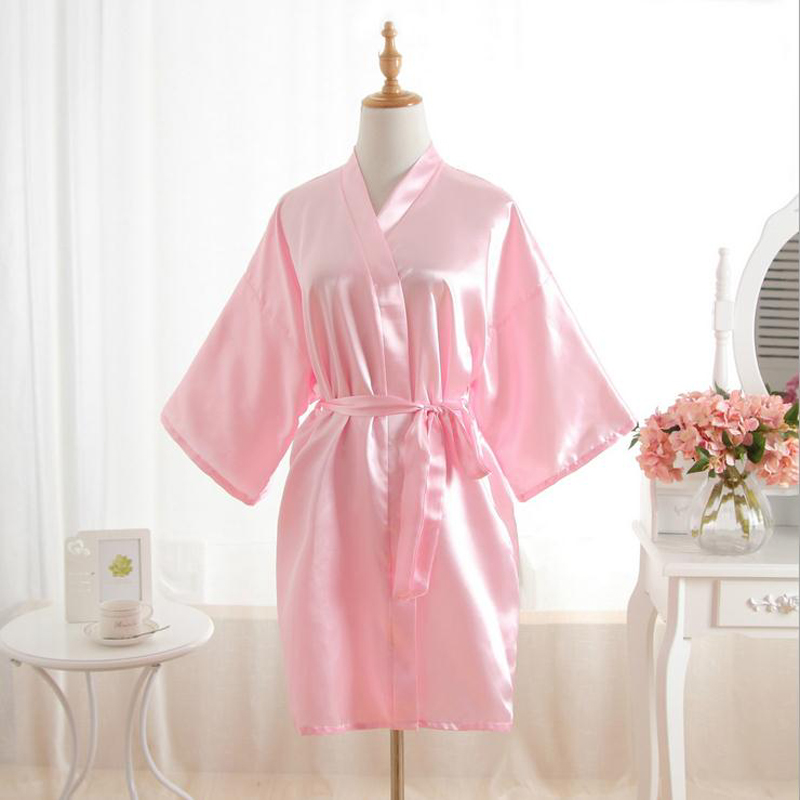 New Arrival Blue Women\'s Satin Robe Bridesmaid Wedding Dressing Gown ...