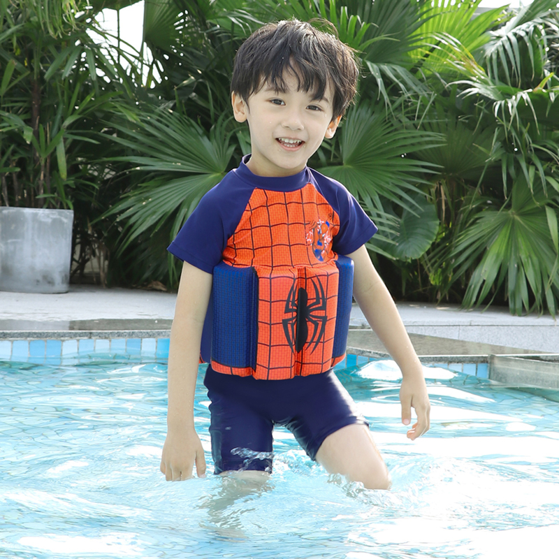 Extrayou Children Swimsuit Baby Boy One Pieces Float Buoyancy Swimwear Detachable Bathing Suit Protective Safe Learning Swimwear in Children One Piece Suits from Sports Entertainment