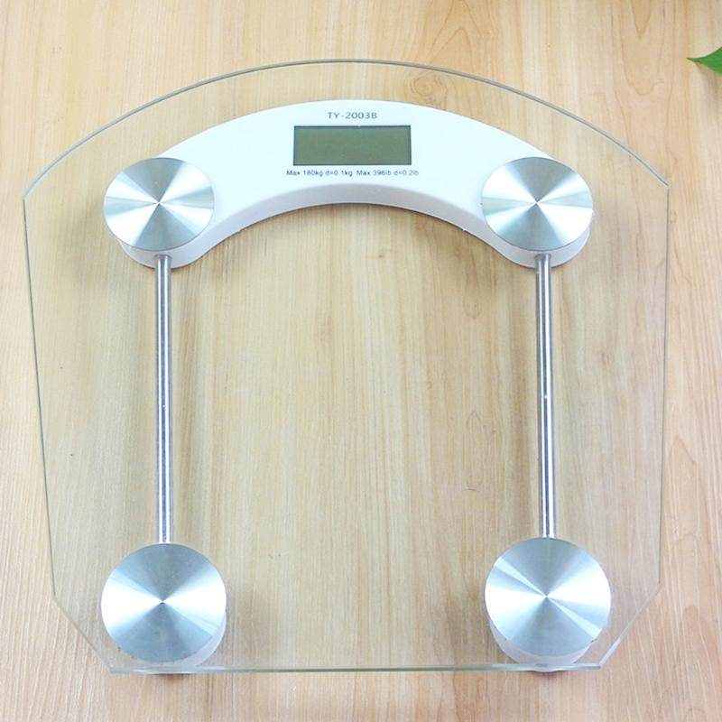 New Portable 180kg Body Weight Loss Scales Adult Mini Digital Scale Glass Electronic LCD Weighing Scales 2018