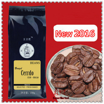 High-quality 100% Arabica Coffee Beans Cooked Coffee Bean Fresh Baked Brazilian Cerrado Coffe Slimming Coffee 250g Free Shipping