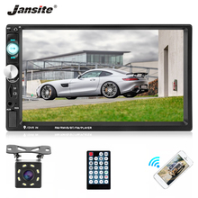 Jansite 7 Double din Car Radio MP5 player with 8 LED light Backup camera Touch screen Auto Player Steering wheel controls