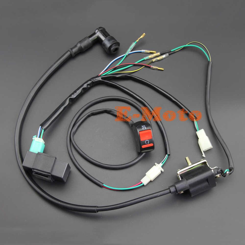 Complete Kick Start Engine Wiring Harness Loom 50c 125cc 140cc PITPRO Dirt Bike