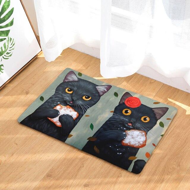DecorUhome Antislip Waterdichte Deur Mat Leuke Twee Katten Eten ...
