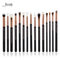 Jessup Brand Rose Gold Black Professional Makeup Brushes Set Make Up Brush Tools Kit Eye Liner