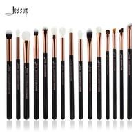 Jessup Brand Rose Gold Black Professional Makeup Brushes Set Make Up Brush Tools Kit Eye Liner