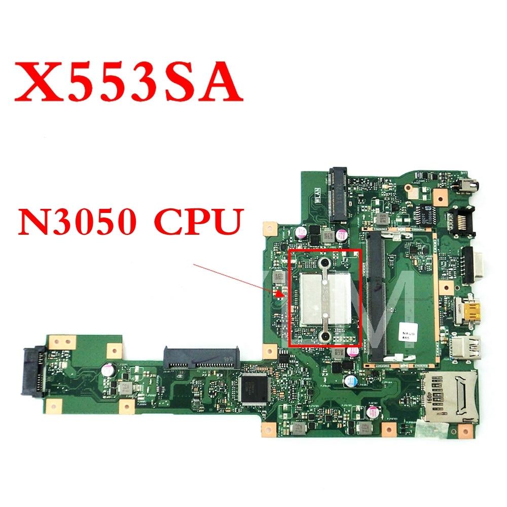 X553SA With N3050CPU mainboard For ASUS X553SA X503S F553S X503SA F553SA Laptop motherboard 60NB0AC0-MB1050 Tested WorkingX553SA With N3050CPU mainboard For ASUS X553SA X503S F553S X503SA F553SA Laptop motherboard 60NB0AC0-MB1050 Tested Working
