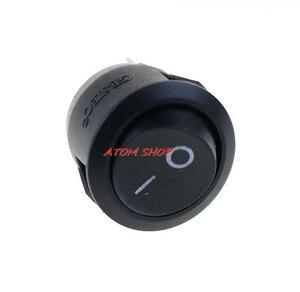 Image 5 - 2 контактный выключатель SPST для лодки, Круглый, черный, 5x1, 12 В, с защелкой + водонепроницаемым пальто YUANZUO