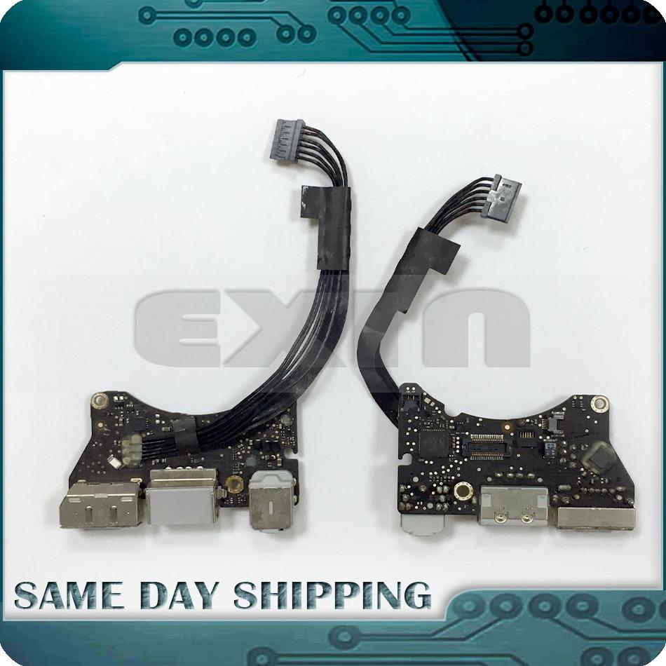 New Genuine 661-5793 for Macbook Air 11 A1370 I/O Board USB Audio Board Power DC IN Jack 820-2827-B MC505 EMC2393 Late 2010 i o board usb audio power magsafe dc jack 820 3053 a for macbook air 11 a1370 emc 2471 mid 2011