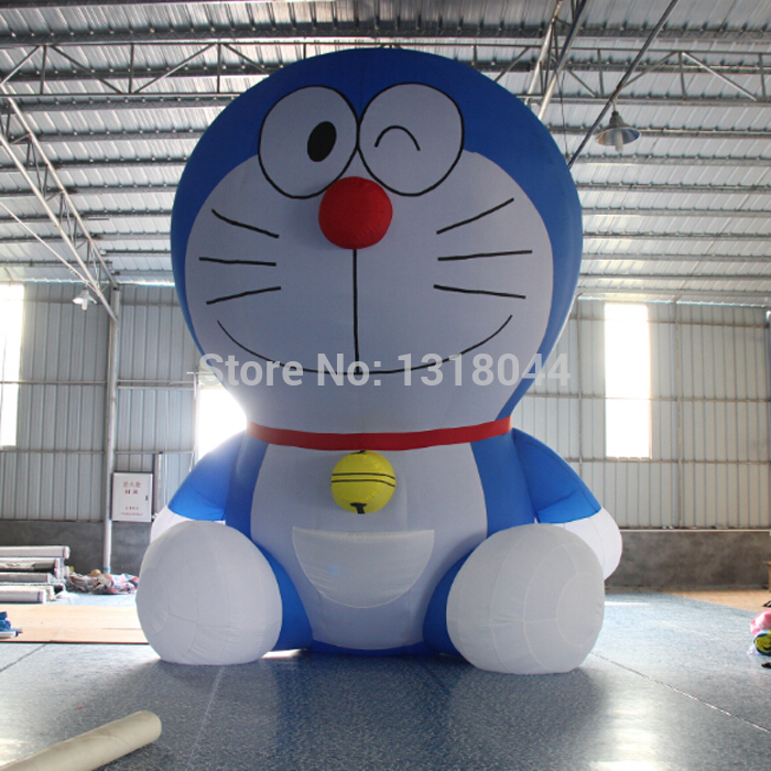 High quality oxford giant inflatable doraemon cartoon for commercial advertising