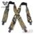Nueva Llegada de Camuflaje de Impresión Tirantes Elásticos de La Correa Táctica Masculina Forma de X 4 Pistola Negro Clip-on Tirantes 110 cm longitud MBD8464