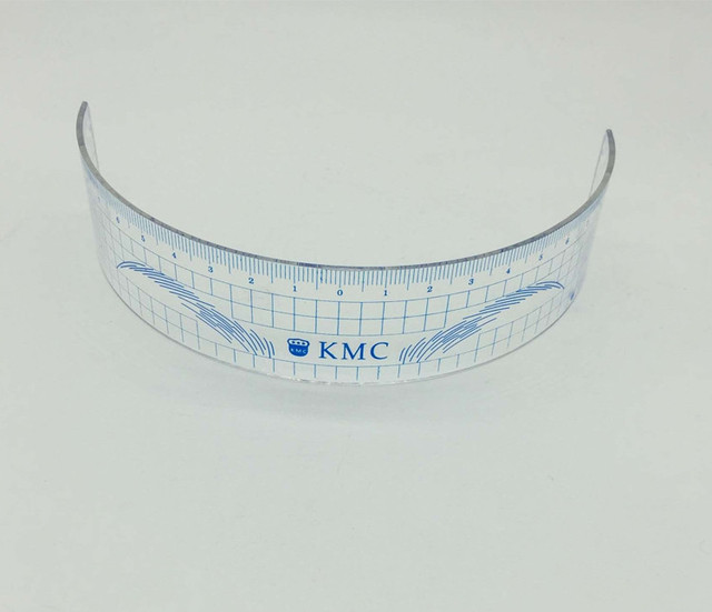 10Pcs Permanent Makeup Stencils Plastic Eyebrow Ruler KMC Tattoo Cosmetic Shaping Tool For The Beginers 1