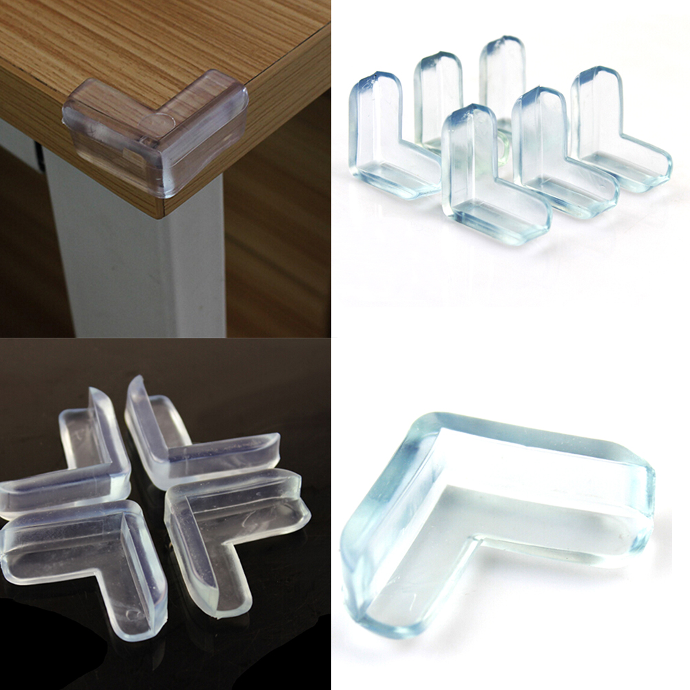 4Pcs Child Baby Safety Transparent Silicone Protector Table Corner Protection Cover Children Anticollision Edge Corner Guards