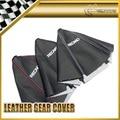Car-styling For Recaro Gear Shift Knob Cover PU Gaiter Sleeve Glove Collars