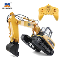 HuiNa 1550 RC Toys 15 Channel 2 4G 1 12 RC Metal Excavator Charging 1 12