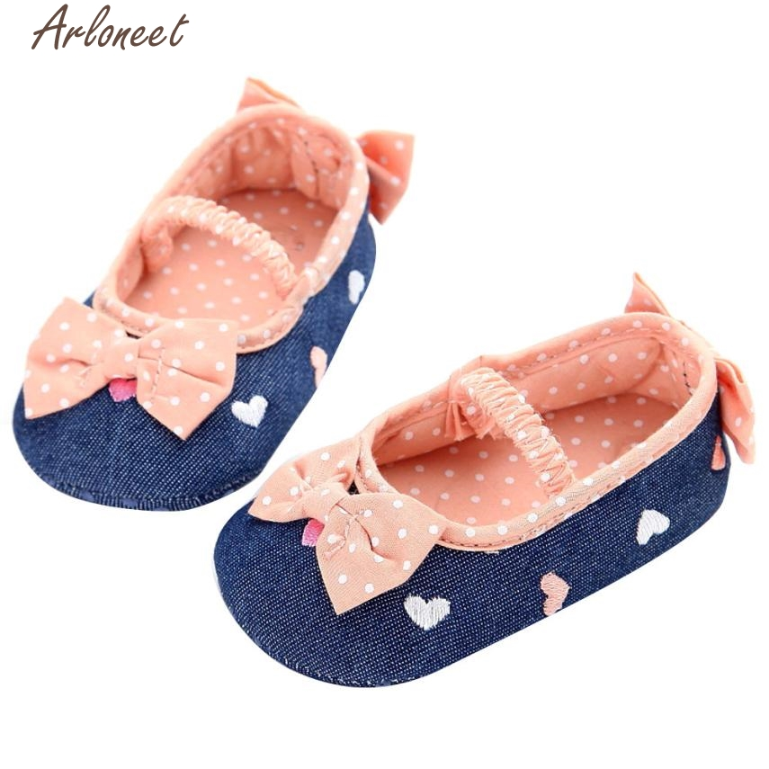 2017 new Baby Infant Kids Girl Soft Sole Crib Toddler Newborn Shoes high quality