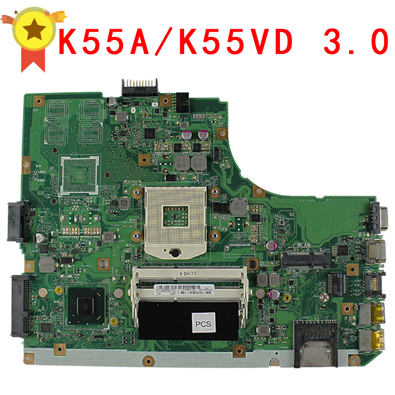 HOT K55A laptop motherboard for ASUS k55VD Maindboard integrated DDR3 60-N89MB1301-A05 full tested free shipping laptop motherboard for toshiba a205 a200 v000108040 integrated ddr2 mainboard full tested free shipping