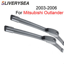 SLIVERYSEA Wiper Blades For Mitsubishi Outlander 2003-2006 22+19 High Quality Iso9001 Natural Rubber Clean Front Windshield qeepei front wiper blades for fiat ducato 2006 2016 pair 26 22 high quality natural rubber clean windshield wiper cpc114