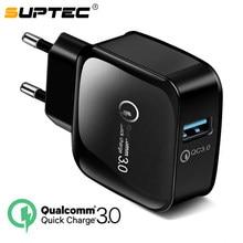 SUPTEC 18 W USB de carga rápida 3,0 5V 3A para Iphone 7 8 Enchufe de la UE del teléfono móvil cargador rápido de carga para Samsug s8 s9 Huawei Xiaomi