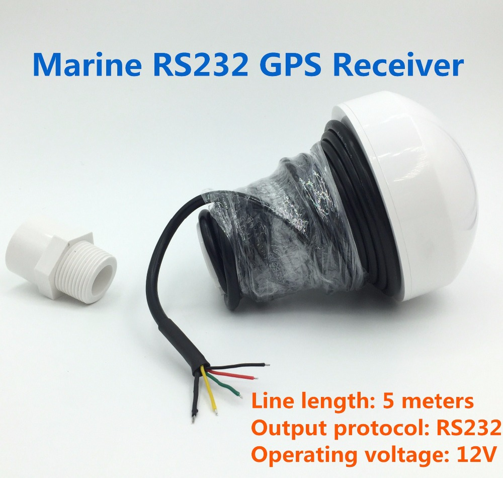 for marine 12V RS232 GPS receiver,RS-232 GNSS GPS receiver,Mushroom-shaped case,4800 baud rate,module with antenna 5 meters new 12v gps receiver rs232 rs 232 boat marine gps receiver antenna with module mushroom shaped case 4800 baud rate gn2000r