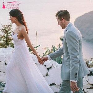 Image 5 - Modern Romantic Wedding Dresses Simplistic Elegant Fully Lined Skirt Bohemian Vestido De Noiva Bridal Gowns ZW168