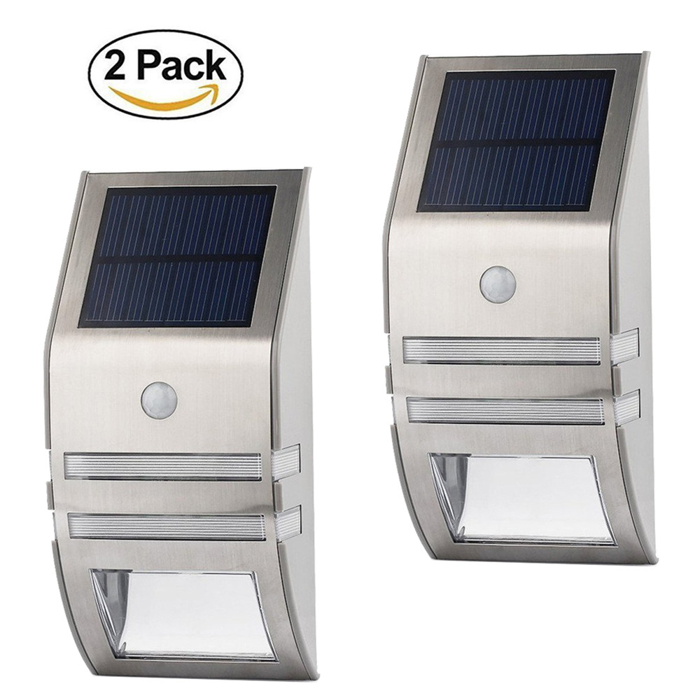 LED Solar Light Solar Garden Light 5LEDS For Wall Patio Fence Stairs Stainless Steel Waterproof Outdoor