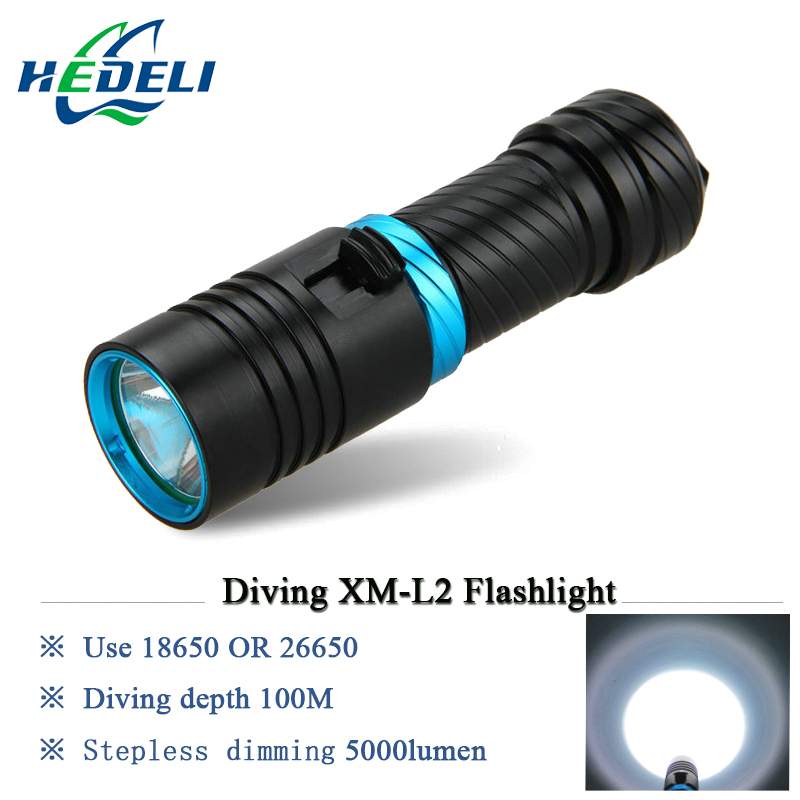 100M scuba flashlights led diving flashlight underwater torch light  diver CREE XM-L2 rechargeable waterproof 18650 or 26650 diving light 6 x cree xm l2 led scuba diving flashlight light waterproof underwater 100m torch use 32650 battery