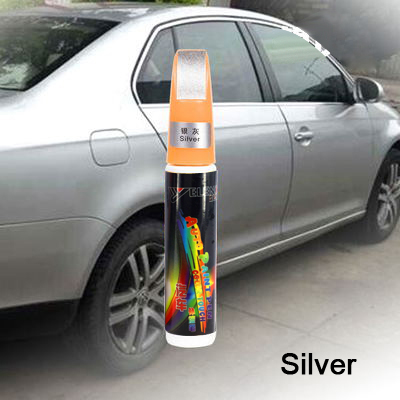 YIJINSHENG Silver series 1pcs Pro Mending Car Remover Scratch Repair Paint Pen Clear 61 colors Black Red White For Choices