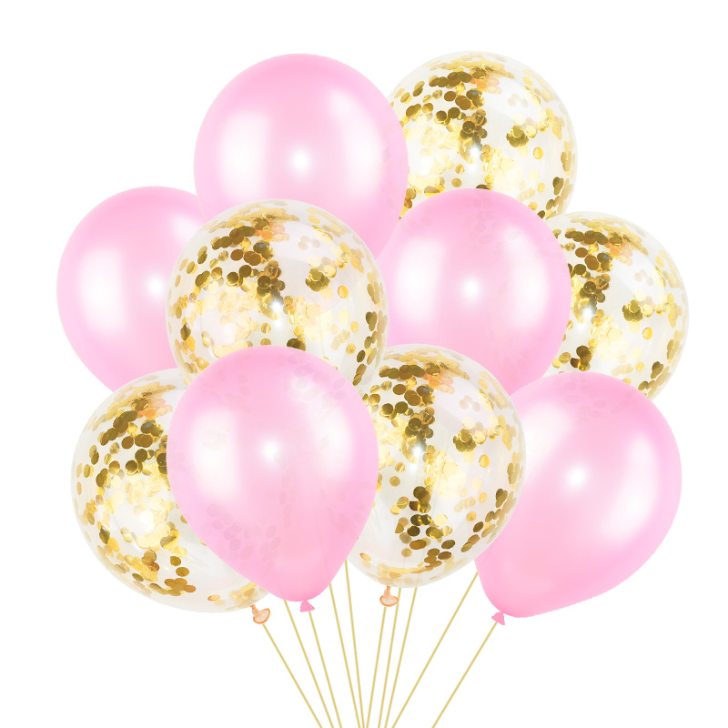 Image 4 - 10Pcs Mixed Confetti Balloons Happy Birthday Party Helium Balloon Decorations Wedding Festival Latex Balloon Party Supplies-in Ballons & Accessories from Home & Garden