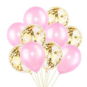 Image 4 - 10Pcs מעורב קונפטי בלונים שמח מסיבת יום הולדת הליום בלון קישוטי חתונה פסטיבל לטקס בלון ספקי צד