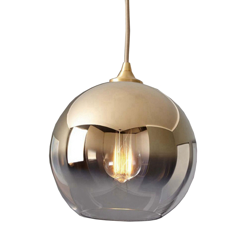 LukLoy Nordic Gold Ball Modern Pendant Ceiling Lamps Loft For The Kitchen Led Pendant Lights Hanglamp Hanging Light Fixture