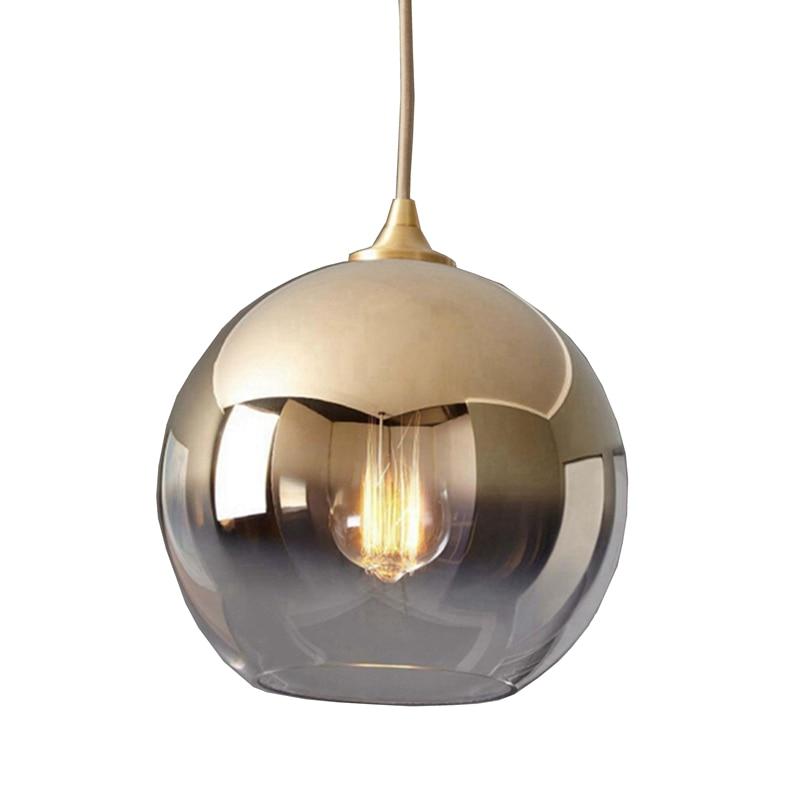 LukLoy Nordic Gold Ball Modern Pendant Ceiling Lamps Loft for The Kitchen Led Pendant Lights Hanglamp Hanging Light Fixture|Pendant Lights| |  - title=