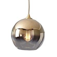 LukLoy plafonnier suspendu en forme de boule dor, design nordique moderne, luminaire dintérieur, idéal pour un Loft, une cuisine, pendentif Led