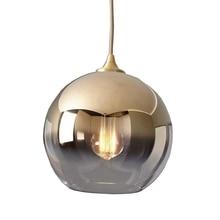 LukLoy skandynawski złoty Ball nowoczesny wisiorek lampy sufitowe Loft do kuchni wisiorek led Lights Hanglamp wisząca oprawa oświetleniowa