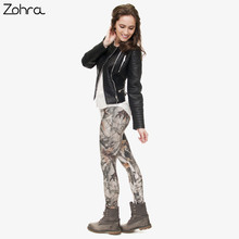 Fashion Camo Branches 3D Printing High Quality Slim Legging Women Casual Home Leggings Woman Pants