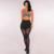 2016 da Mulher da Aptidão Leggings Preto Novo Malha Splice Magro Calças Calças de Treino Casuais Elásticas Wicking Leggings de Fitness Para As Mulheres