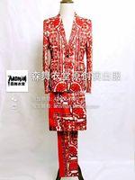 S 5XL 2018 Для мужчин новый мужской тонкий певица Китайский Ветер суд фарфор атласа костюм комплект костюмы торжественное платье Для мужчин оде