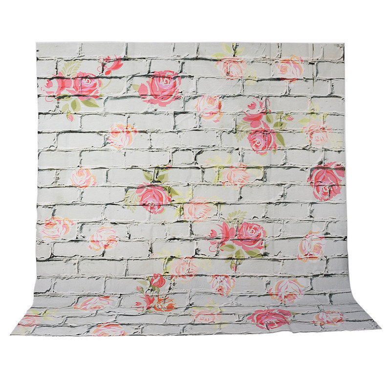 8 x8ft Vinyl Photography Background For Studio Photo Props Flowers Newborn Baby Brick wall Photographic Backdrops cloth new