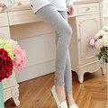 New Autumn Spring Cotton Maternity Leggings for Pregnant Women Elastic High-waisted Maternity Pants Pregnancy Pants B179