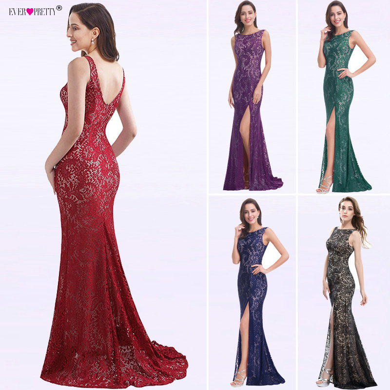 Black Lace Mermaid   Evening     Dresses   Long Ever Pretty EP08859 Green Formal   Dress   Elegant robe de soiree longue 2018   Evening   Gown