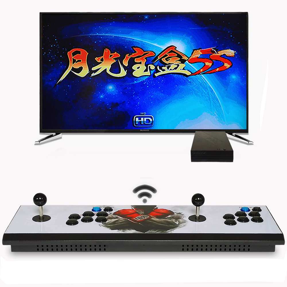 pandora box 5S home arcade wireless version 1299 in 1 double fighting rocker console game console цена