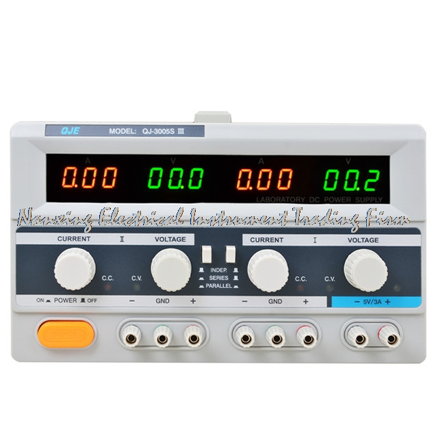 fast arrival QJ3005SIII DC Power Supply Laboratory Triple phases Transformer 30V 5A resolution of 100mV 10mA