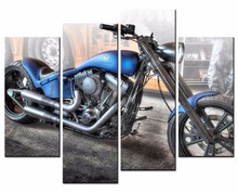 4 Piece Canvas Art Printing Photo Motorcycle Painting Custom Canvas Print On Canvas Printing Wall Pictures Home DecorationXJ265  цены онлайн