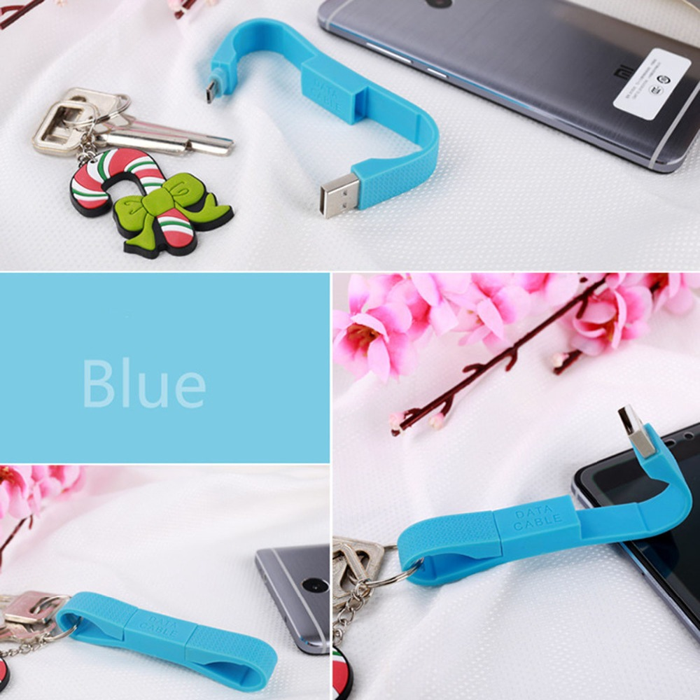 Portable Car Key Chain Ring Mini Micro USB Cable for Samsung Galaxy S7 Xiaomi Redmi 4x Phone Charger Cables Micro USB Data Cable